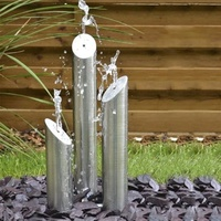 Dancing fountain stainless steel garden fountain ornament outdoor water feature waterfall