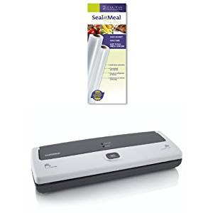 Seal-A-Meal 11-Inch by 9-Foot Rolls and FSSMSL0160-000 Vacuum Sealer Bundle