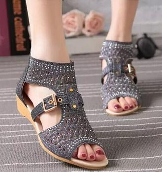 Zm33910a Elegante Bajo Sandalias De Tacón Simple Niñas De Verano Zapatos Buy Sandalias De Mujer,Sandalias Simples Para Niñas,Sandalias De Tacón De