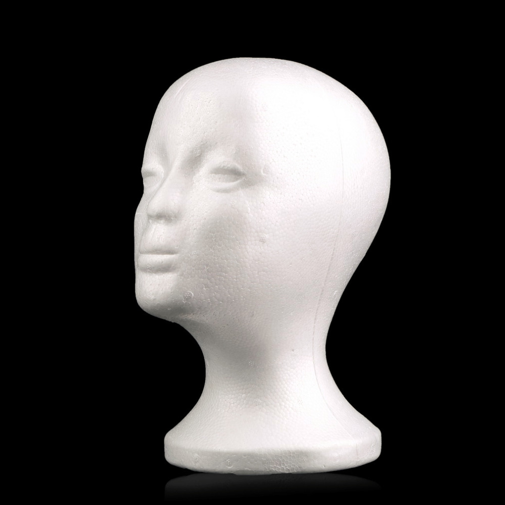 New Female Styrofoam Mannequin Manikin Head maniqui Model Foam Wig Hair Glasses Display Hot Worldwide