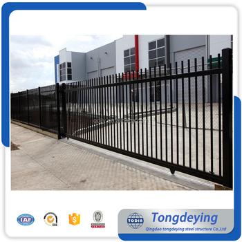 Galvanized Garden Security Wrought Iron Fence Designs/Decorative Garden  Steel Fencing/Fence Gate