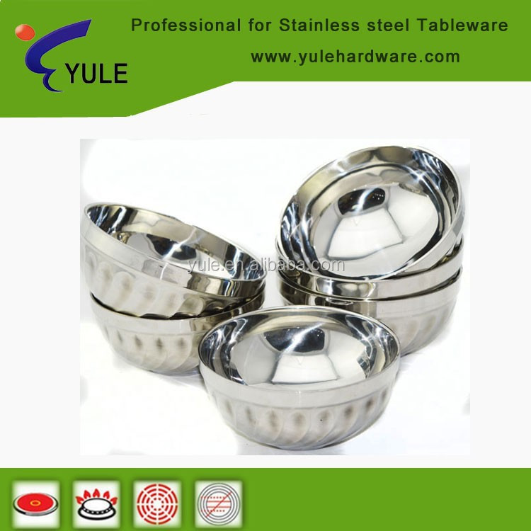 stainless steel 201 cute and cheap kitchenware lily bowl