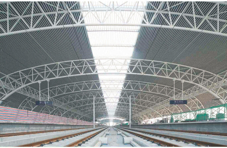 Galvanized steel truss space frame structure bus/train station canopy cover
