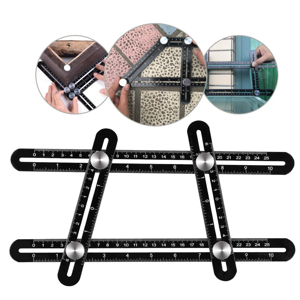 Buy Isometric Piping Template Drafting Tool Drainage Layout Tools Kuject Angleizer Full Metal Universal Measuring Ruler Ultimate Tile Measure