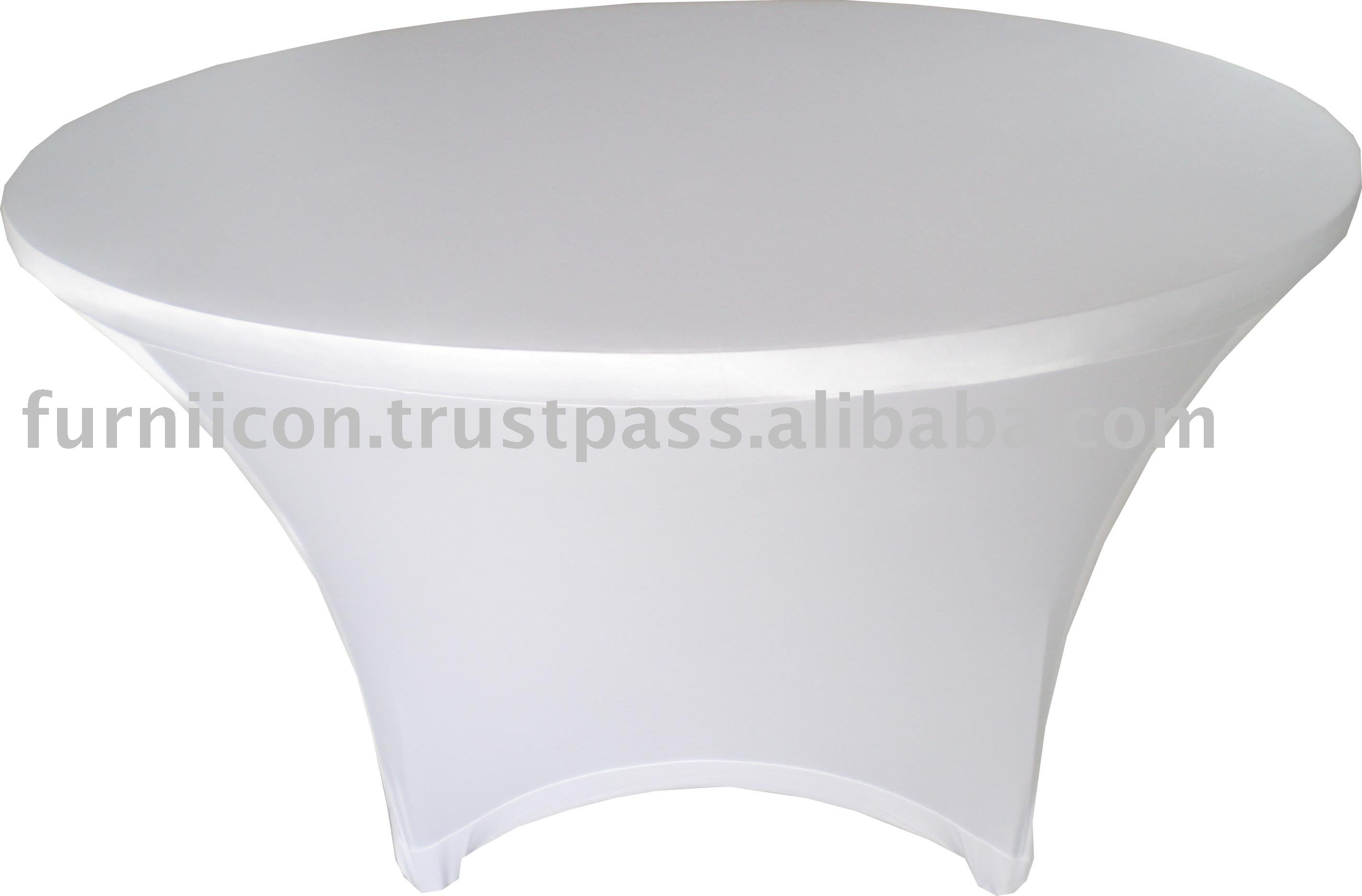 Round Plastic Table Covers With Elastic Lycra Spandex Round Table Cover Buy Stretch Spandex Round Table