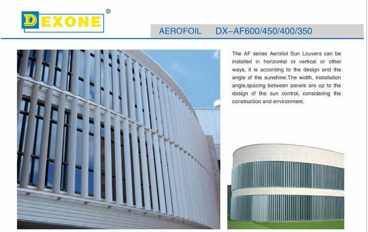 Exterior Aluminum Sunscreen Louver Of Construction