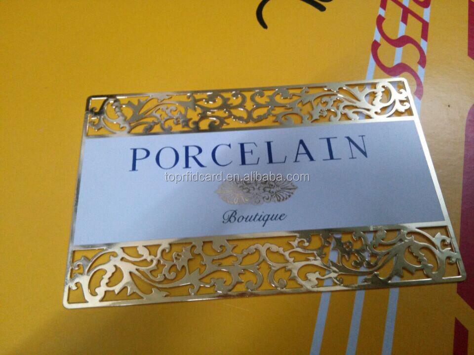 Concave Metal Visit Card Business Card Metal Printing Laser Cut ...