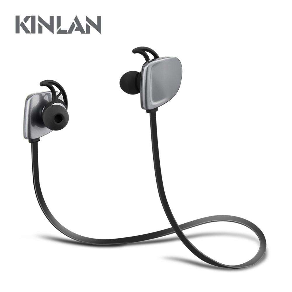 Kinlan New Arrival V4.1 Bluetooth earphone wireless sports headphone CVC noise cancelling headset