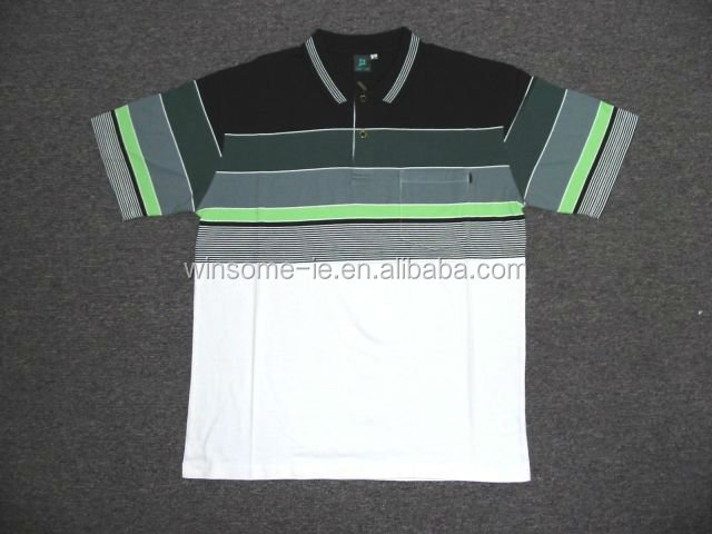Newest Design mens 100% cotton yarn dyed engineering stripe polo shirt
