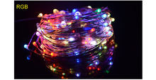 СВЕТОДИОДНАЯ Гирлянда IP65, водонепроницаемая, 2 м, 5 м, RGB, медная полоса, световая гирлянда для рождественских праздников, свадебных рождестве...(Китай)