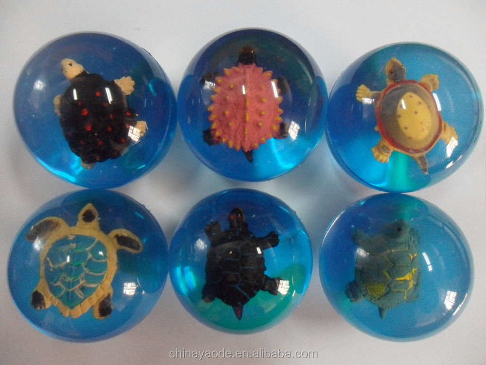 3D sea turtle bouncing ball toys