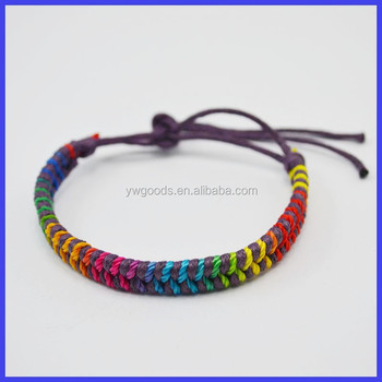 Waxed Cotton Cord Handmade Woven Bracelet