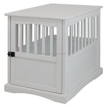 Bamboo Wooden Durable White Dog House Pet Cage