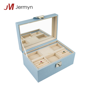 Wholesale portable ring necklace case custom jewelry box travel
