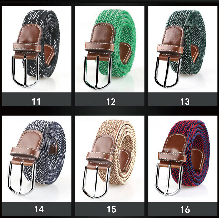 2016 hot sale fashion good quality stock stretch belt with alloy buckle