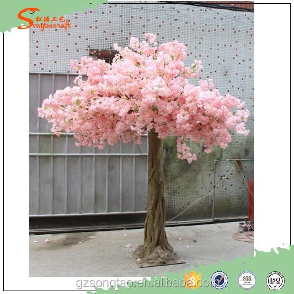 Haute qualit d coration artificielle rose de fleurs de cerisier arbre artificiel int rieur - Arbre deco interieur ...