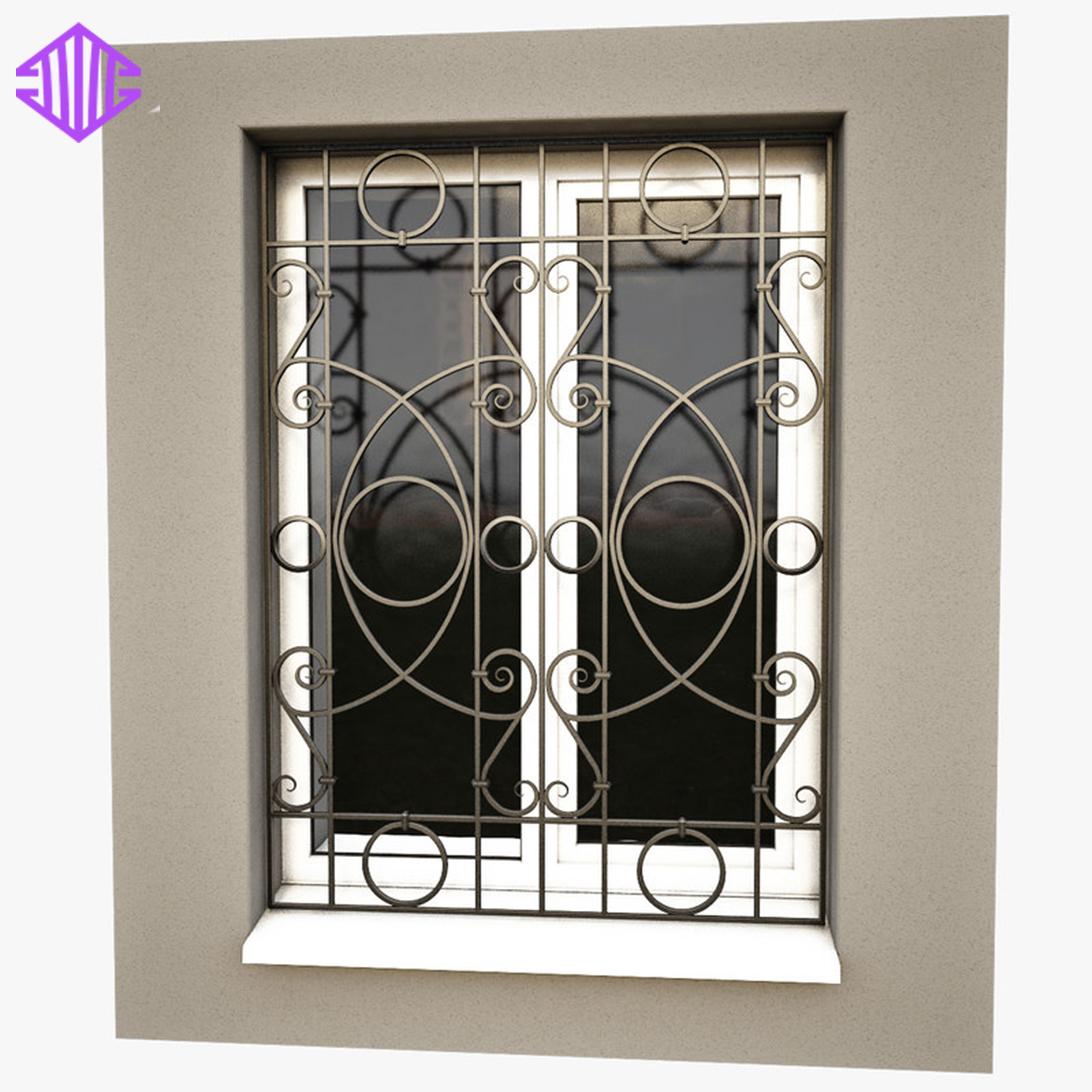 Aluminum Window With Decorative Iron Window Bars - Buy Aluminium