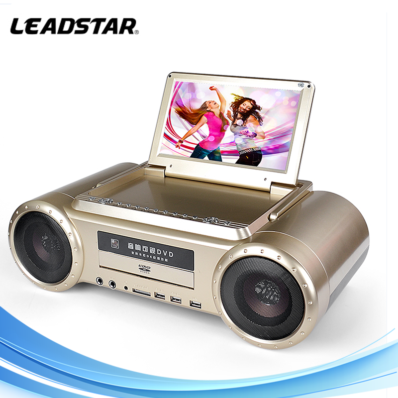 New portable dvd with karaoke new choice for amusement sing by 2line micphone karaoke machine 9 inch media tv screen