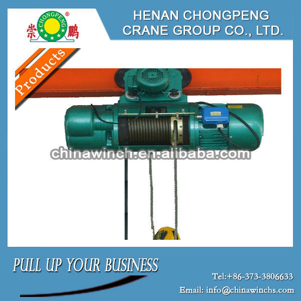 Hot sale CD1/MD1 model wire rope lifting electrie hoist