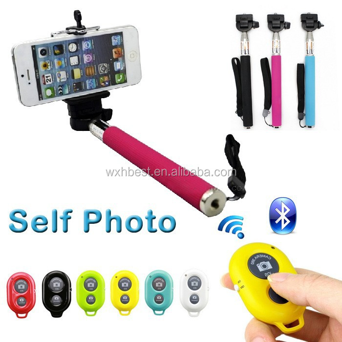 3 in 1 Professional Universal Bluetooth Shutter Monopod Remote Selfie Stick for iPhone Selfie Stick Wireless Monopod