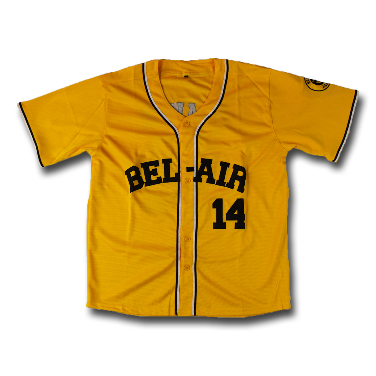 Smith #14 Bel-air Geel Honkbal Jersey