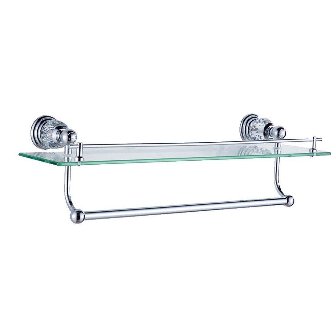 LAONA European style copper silver crystal base, bathroom fittings, paper towel rack, bath towel rack,Rack 1