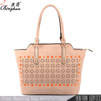 2016 asian elegant lades handbag fashion PU geometric handbag