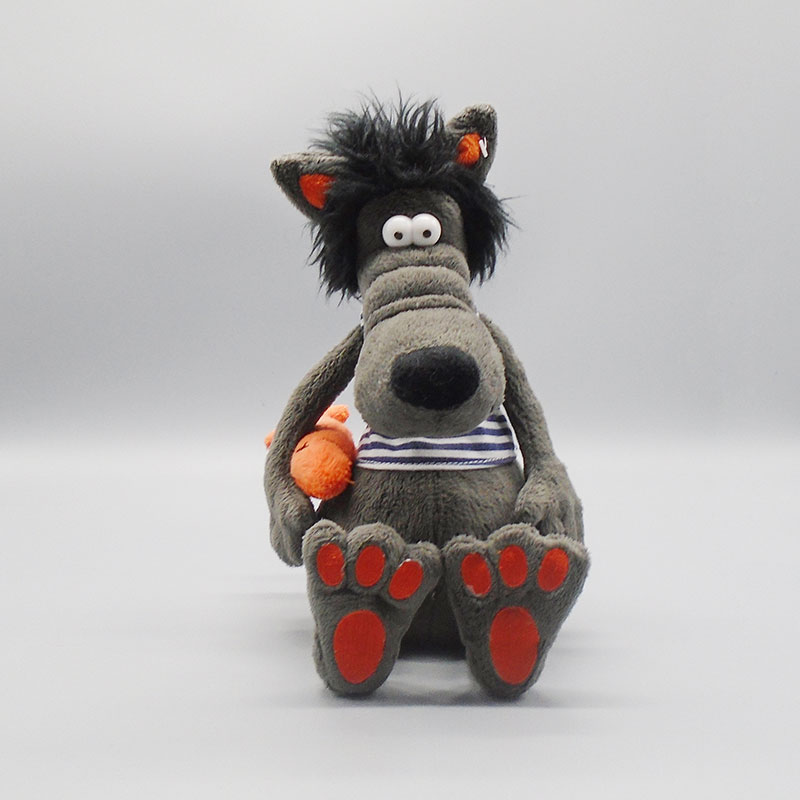 Factory direct cheap lovely custom design wolf plush toys