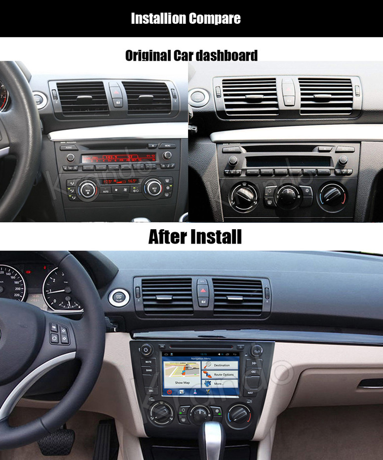 krando android 7 1 car navigation gps radio for bmw 1. Black Bedroom Furniture Sets. Home Design Ideas