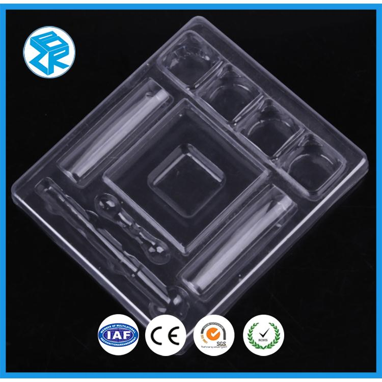 Transparent Color Rectangle Hanging Hard Plastic Wallet Packing Box