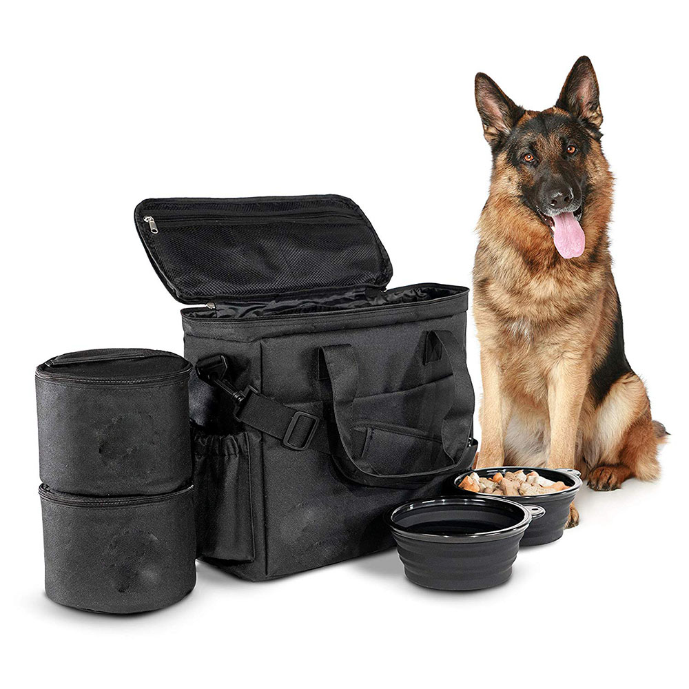 <strong>Dog</strong> Travel Bag Airline Approved Travel Set Stores Your <strong>Dog</strong> Accessories Food Storage Containers Collapsible <strong>Dog</strong> <strong>Bowls</strong>