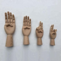 wholesale wooden hands articulated wood hands