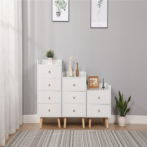 Wholesale modern good looking chic wooden lockers paulownia white wooden cabinet