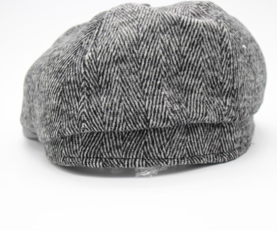 83c80edbb49 2019 Wholesale PU Leather Brim Flat Caps Men Winter Hat Gorras ...