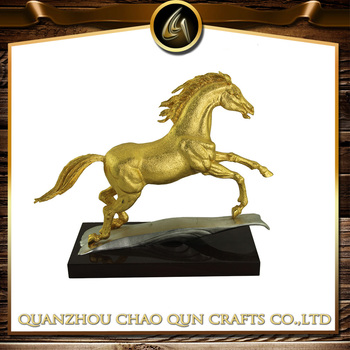 metal golden horse statue model