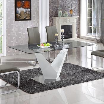Muebles Para El Hogar Modernos De Mesa De Comedor De Vidrio Templado  Diseños Gd007 - Buy Muebles De Comedor Italiano Odern,Mesa De Comedor De  Vidrio ...