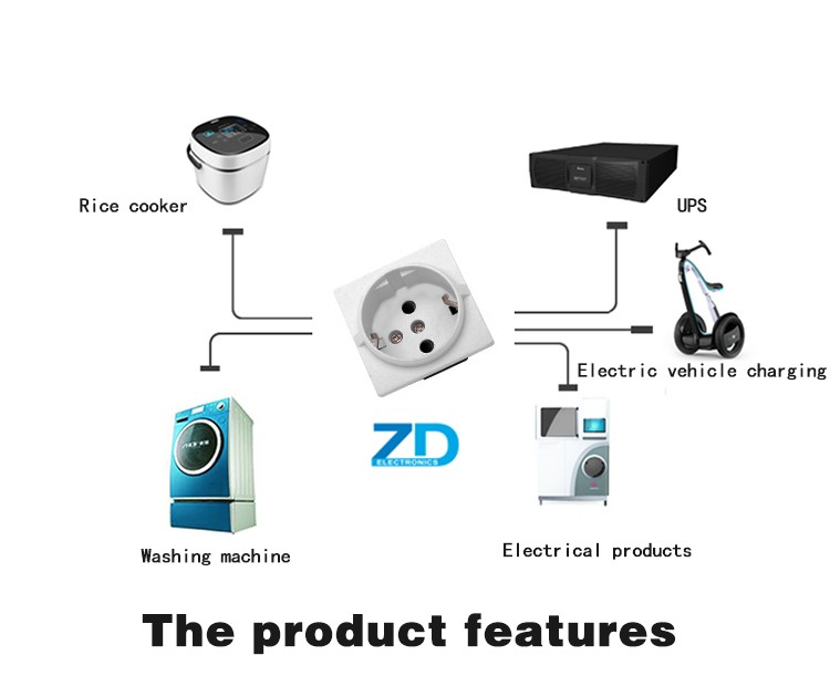 schuko socket wiring diagram schuko image wiring whole zd b22 power socket korea wiring receptacle on schuko socket wiring diagram