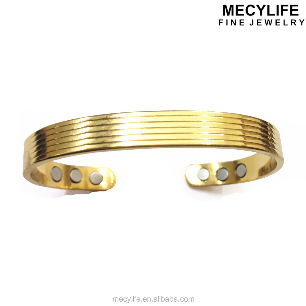 Mecylife 18k Gold Plating Healthy Bangle Copper Magnetic Bracelet - Buy  Copper Magnetic Bracelet,Wide Copper Bracelets,24k Gold Magnetic Bracelets