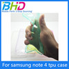 Fashional excellent tpu case for samsung note 4 silicon cell phone case cover