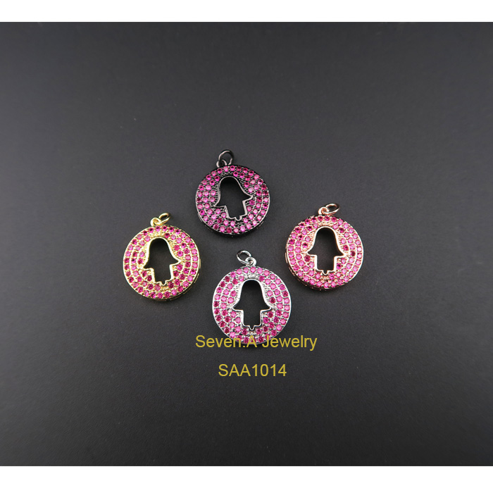SAA1014 Turkish Hamsa Hand Connector Directly Jewelry Factory in China