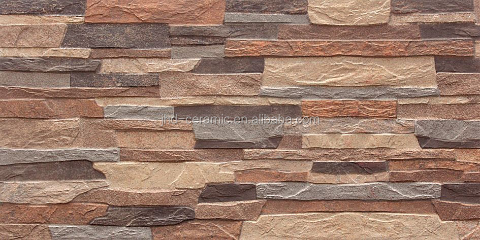300x600mm 3D ink-jet rock tiles house exterior wall tiles price ...
