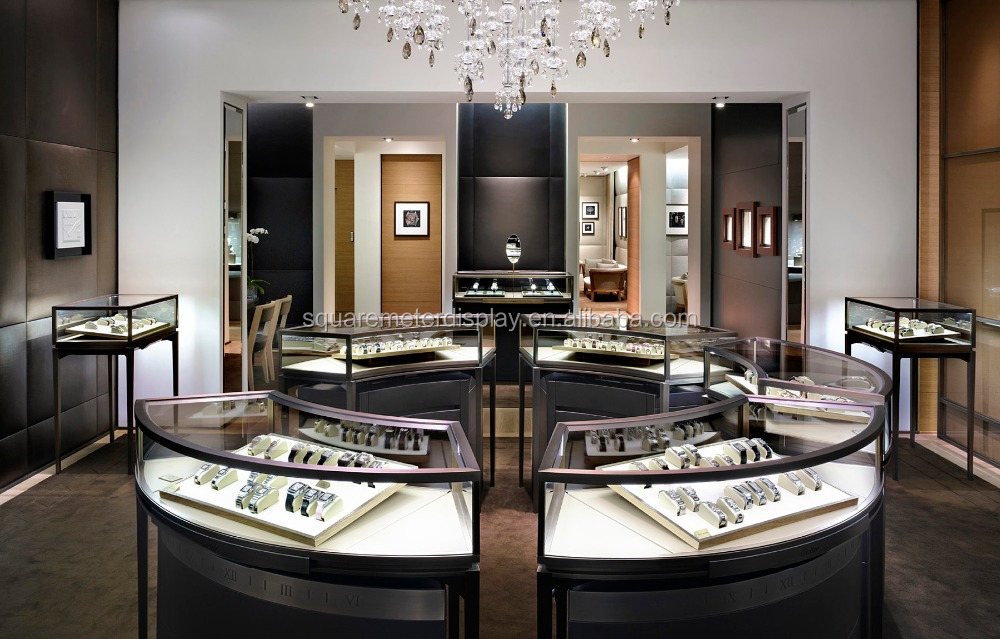 Modern top high end jewelry stores retail store fixture