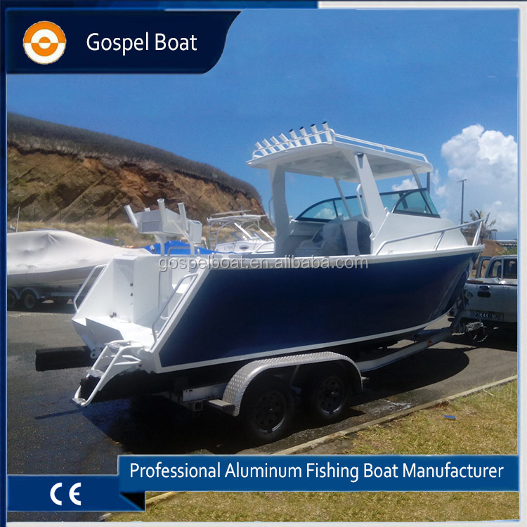 21ft Cuddy Cabin Aluminum Plate Boat for Offshore Fishing