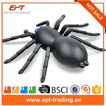 Novel funny toys high quality remote control battery spider toy with battery for children