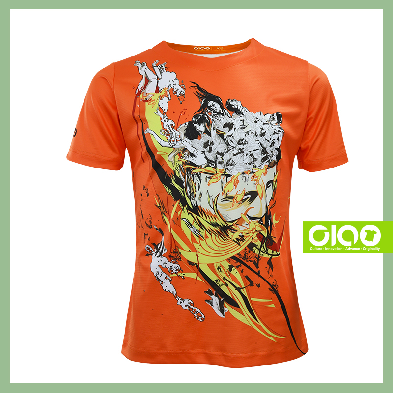 Ciao anti-slip sublimated t-shirt boys design printing for distributor