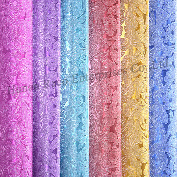 Raco Pvc self adhesive foil glitter self adhesive film contact paper gift wrapping paper