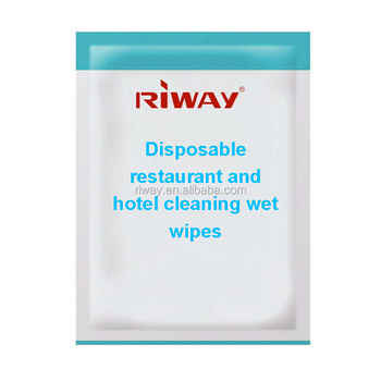Disposable restaurant and hotel cleaning wet wipes