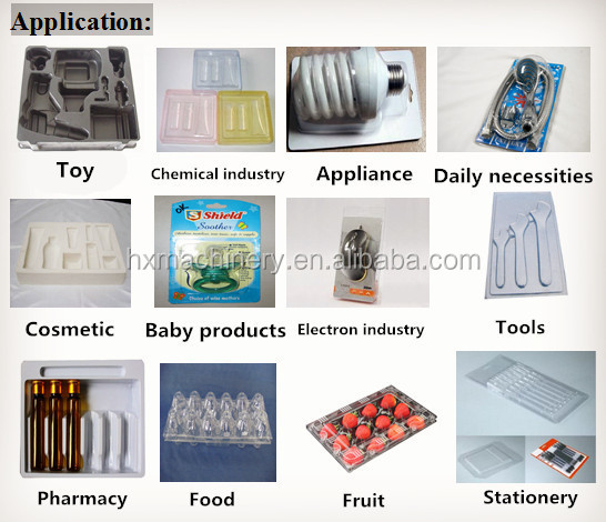 Automatic Plastic Blister Thermoforming Machine for PP/PE/APET/PET/PVC
