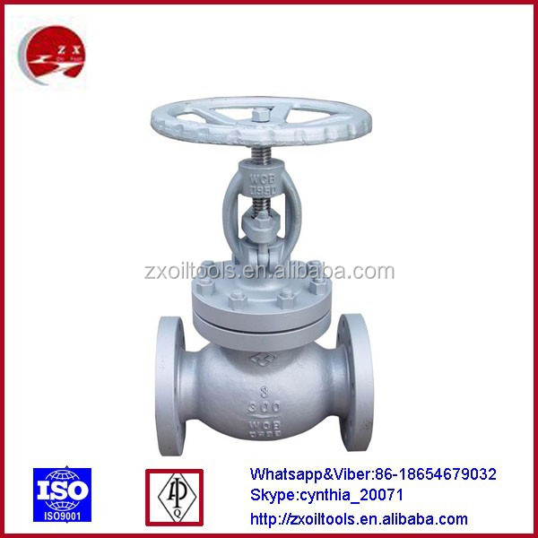 WCB/Stainless steel flanged ball globe valve