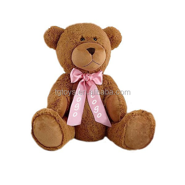 22inch Personalized Giant size Teddy Bear and printing ribbons teddy bear